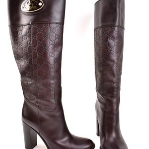 "GUCCI ""85th Anniversary"": Brown, Leather GG Boots"